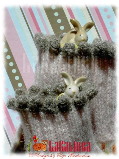 LaKalinka mittens design Rabbit