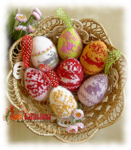 Happy easter Knitting Eggs