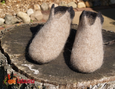 knitting pattern felted slippers