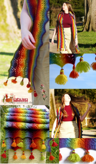 knitting pattern rainbow colors