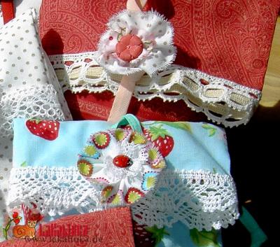 текстильные броши-пуговицы