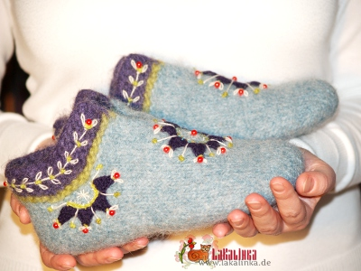 knitting pattern for felted slippers