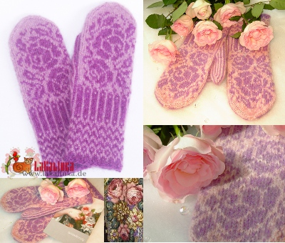 English knitting pattern roses