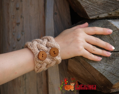 Knitting pattern wristwarmers