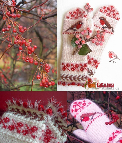 Knitting pattern mittens Robin