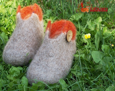 knitting pattern felted Slippers design Olga Beckmann