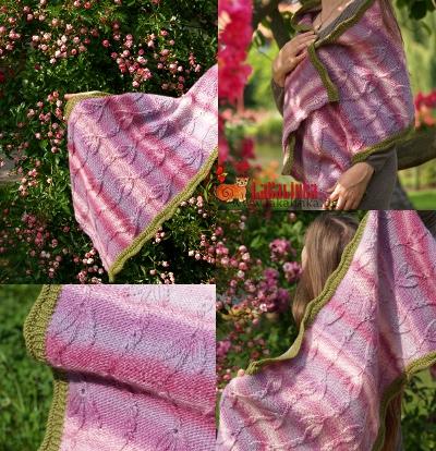 Knitting pattern Wrap Blauregen Design Olga Beckmann