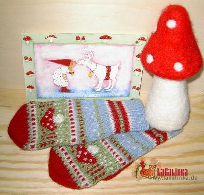 Knitting pattern mittens design Olga Beckmann
