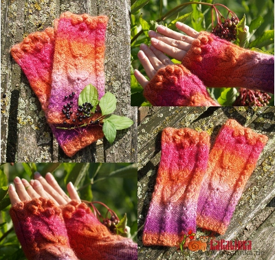Knitting pattern fingerless mitts design Olga Beckmann