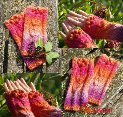 Knitting pattern fingerless mitts design Olga Beckmann