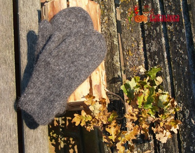 Knitting pattern Best felted mittens design Olga Beckmann