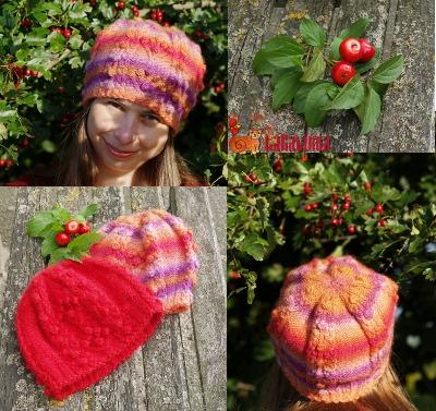 Rjabinka hat knitting pattern Olga Beckmann