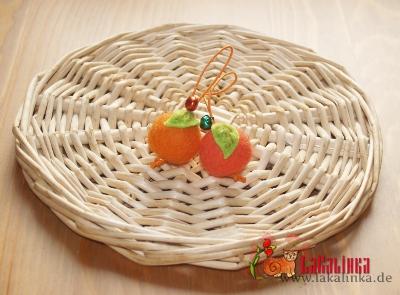войлочные бусины апельсинки