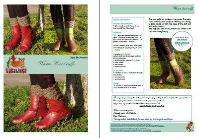 Warm boot cuffs knitting pattern Design Olga Beckmann