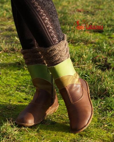 Warm boot cuffs knitting pattern