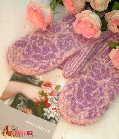 roses mittens pattern