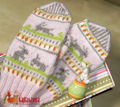 little rabbit mittens pattern