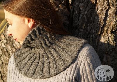 Neckwarmer knitting pattern Severni vitr