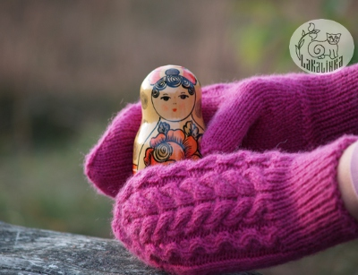 cable mittens pattern