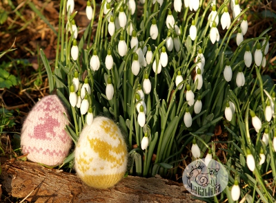 Happy Easter Eggs pattern