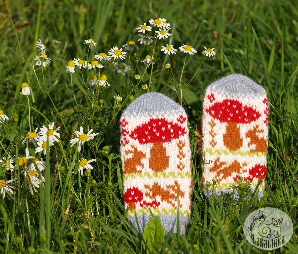Summer rain mittens