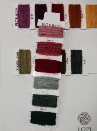 Lopi yarn Farbkarten