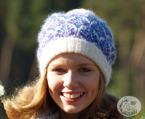 Stranded hat pattern Snowy tale