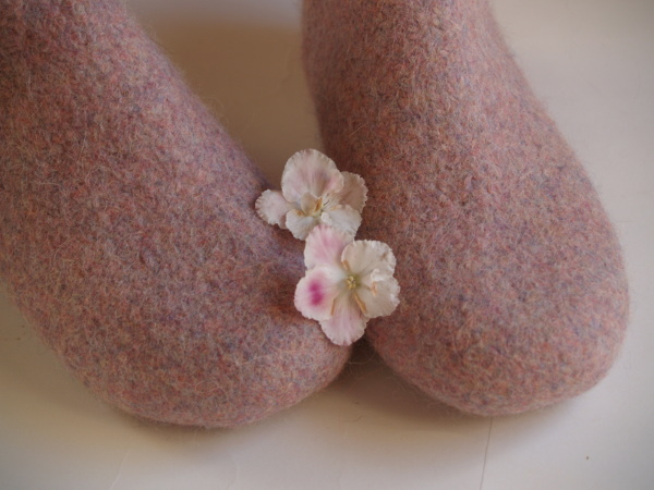 Felted slippers Nordic winter