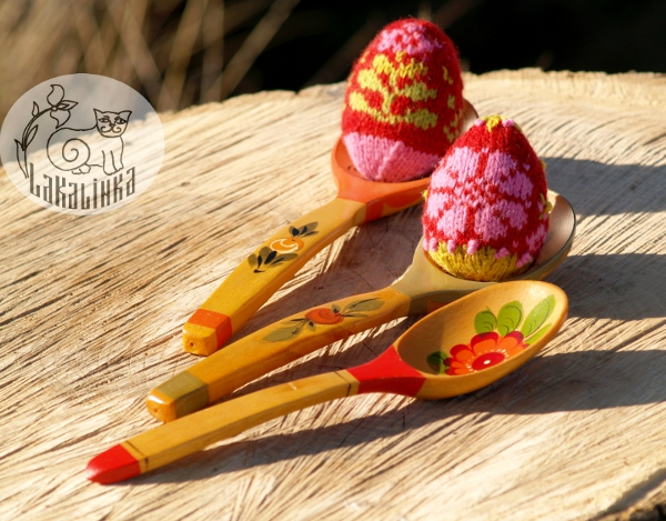 Russain Easter eggs knitting pattern