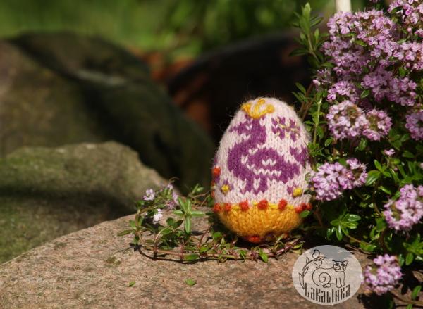 Russain Easter eggs knitting pattern