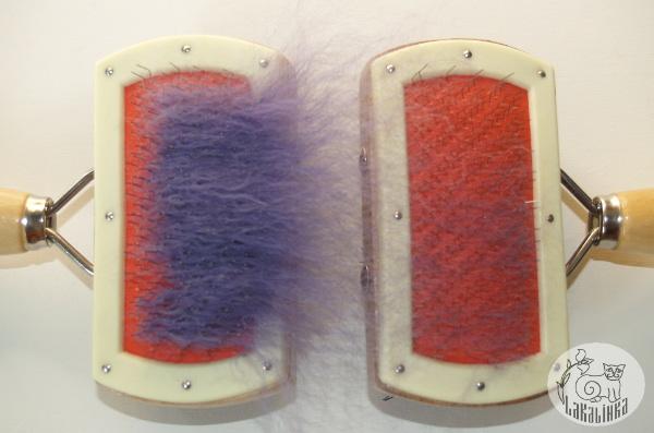 Feld beads from yarn scraps