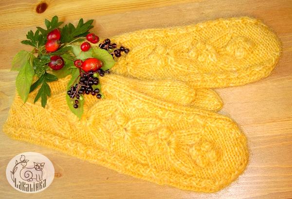 Lettlopi mittens pattern Honey Berries
